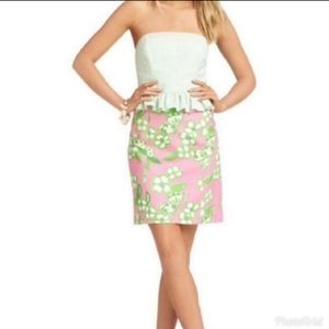 Lilly Pulitzer Lowe Peplum Strapless Dress
